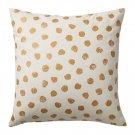 IKEA Skaggort Pillow COVER Sham Cushion Cvr White Gold Dots SKÄGGÖRT Modern