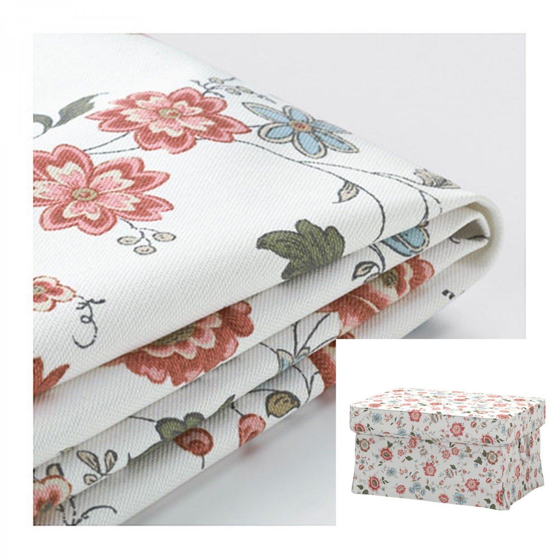 IKEA Ektorp Footstool COVER Ottoman Slipcover VIDESLUND MULTI Floral
