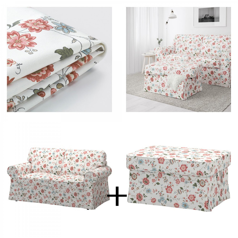 Ikea Ektorp 2 Seat Loveseat Sofa And Footstool Covers