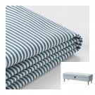 IKEA Stocksund Bench SLIPCOVER Cover REMVALLEN Blue White Stripes Cottage Chic