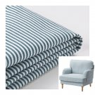 IKEA Stocksund Chair SLIPCOVER Armchair Cover REMVALLEN Blue White Stripes