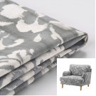 IKEA Stocksund Chair SLIPCOVER Armchair Cover HOVSTEN Gray Floral Blurred Watercolor Effect