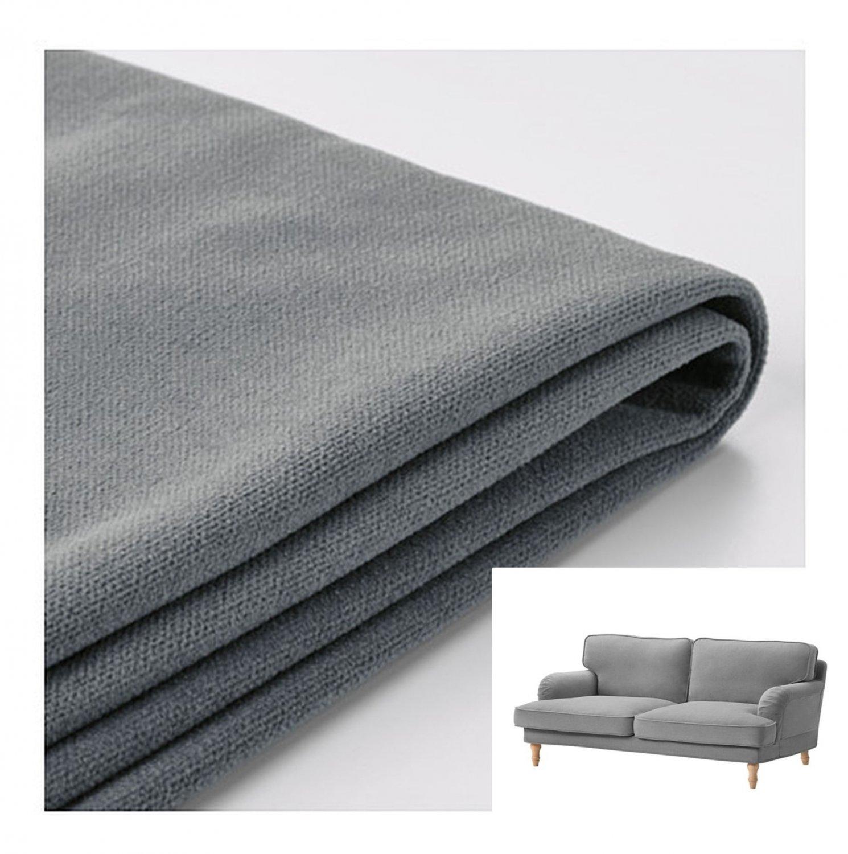 IKEA Stocksund 2 Seat Loveseat Sofa SLIPCOVER Cover LJUNGEN GRAY Grey Velvet