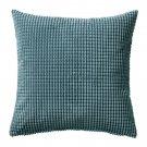 "IKEA Gullklocka Cushion COVER Pillow Sham  20"" x 20"" Velvet GRAY GREEN Grey"