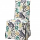 "IKEA Henriksdal Chair SLIPCOVER Cover Skirted Long GILLHOV 21"" 54cm FERNS Tropical Green Gold"