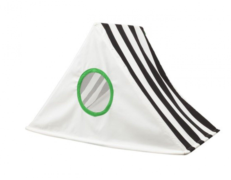 IKEA Child's HEMMAHOS BED TENT Canopy Toy BLACK WHITE Stripes Girl Boy Unisex Crib Circus Soccer
