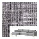 IKEA Karlstad ISUNDA GRAY SLIPCOVERS Covers Grey Linen Blend for Full Size sofa w Chaise