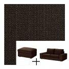 IKEA KIVIK Slipcovers for 2 Seat Loveseat Sofa and footstool TULLINGE DARK BROWN Covers