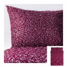 IKEA Smorboll DARK PINK Queen Full Duvet COVER Pillowcases Set SMÖRBOLL Dots Circles