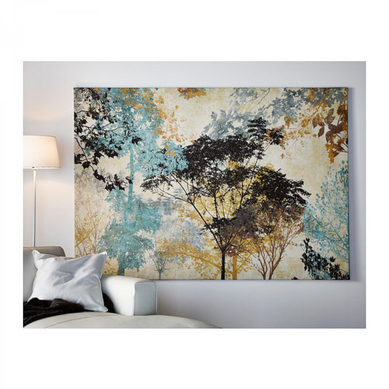 IKEA Premiar FOREST AMBIANCE Canvas and Frame WALL ART Print HUGE Tree Canopy PREMI�R Mandala