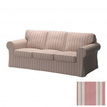 Ikea Ektorp 3 Seat Sofa Slipcover Cover Mobacka Ticking