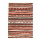 "IKEA Kattrup Area RUG Mat WOOL Multicolor Rust Hand-Woven Flatwoven INDIA Ethnic 7'10"" x 5'7"""