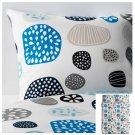 IKEA Ringkrage QUEEN Full Duvet COVER Pillowcases Set BLUE Multicolor