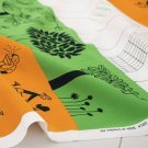 IKEA Onskedrom Fabric Material City Children Trees 1Yd ÖNSKEDRÖM Orange Green Celebrate Life
