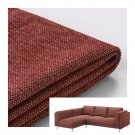 IKEA Nockeby SLIPCOVER Loveseat w Chaise Left COVER Tallmyra Rust red brown