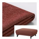 IKEA Nockeby Footstool SLIPCOVER Ottoman COVER Tallmyra Rust red brown