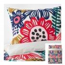 IKEA Sommaraster QUEEN Full Duvet COVER Pillowcases Set Bold Floral Flowers Multicolor Reversible