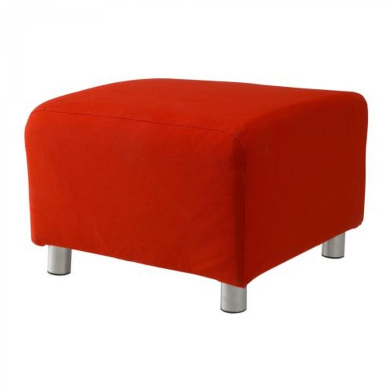 Ikea Klippan Footstool Slipcover Pouffe Cover Almas Red