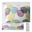 IKEA Malin Rund TWIN Duvet COVER Pillowcase Set Multicolor CIRCLES Blue Green Purple White