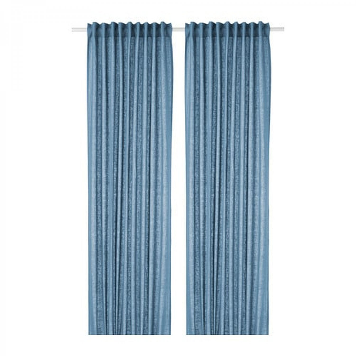 Ikea Aina Curtains Drapes Blue Linen 98 Long