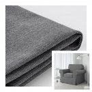 IKEA Ektorp Armchair COVER Chair Slipcover NORDVALLA DARK GRAY Grey