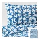 IKEA Stjarnflocka QUEEN Full Duvet COVER Pillowcase Set BLUE White Tie Dye Star Flower STJÄRNFLOCKA