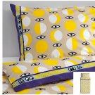IKEA Glodande TWIN Duvet COVER Pillowcase Set YELLOW Beige 50s Retro GLÖDANDE Limited Edition