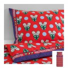 IKEA Glodande TWIN Duvet COVER Pillowcase Set RED Retro GLÖDANDE Kawaii Limited Edition WONDERMOOI