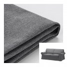 IKEA Ektorp 2 Seat Sofa COVER Loveseat Slipcover NORDVALLA DARK GRAY Grey