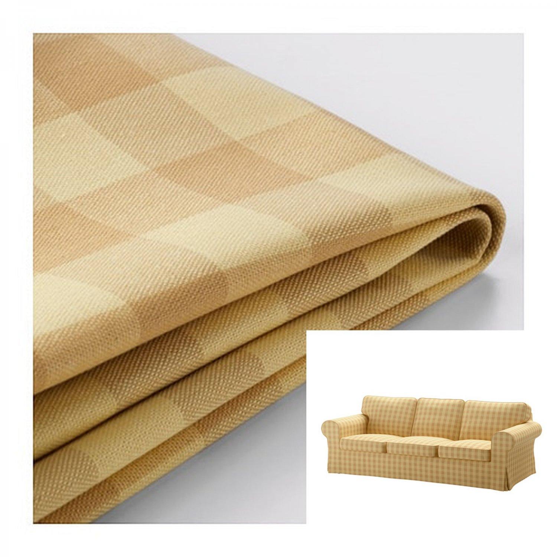 IKEA Ektorp 3 Seat Sofa COVER Slipcover SKAFTARP YELLOW Buffalo Check Plaid