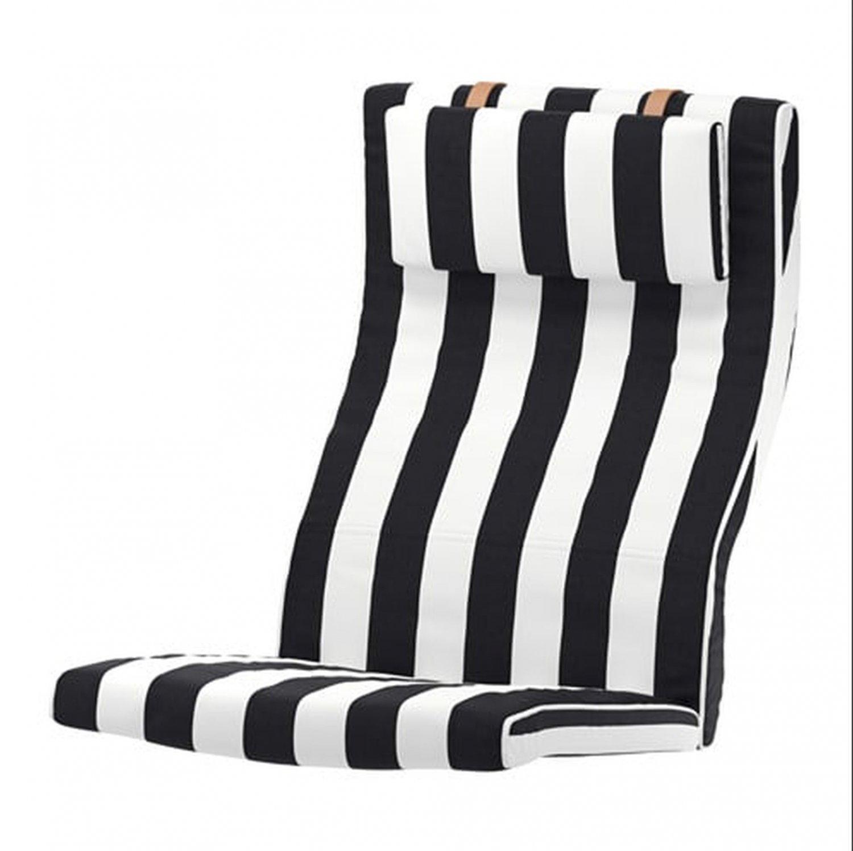 IKEA Poang Armchair CUSHION STENLI Black White Stripe PO�NG Cover