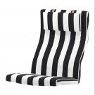 IKEA Poang Armchair CUSHION STENLI Black White Stripe POÄNG Cover