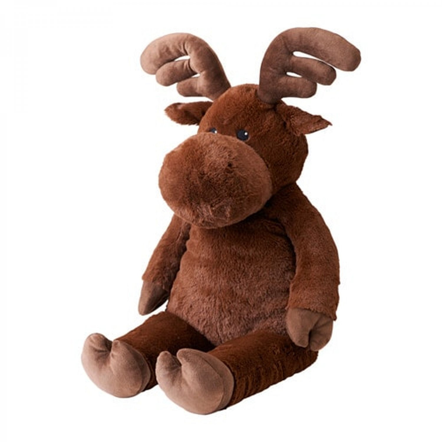 "IKEA Gemytlig MOOSE Elk Large 27"" Soft Plush Animal Toy  NWT Brown Forest Discontinued"