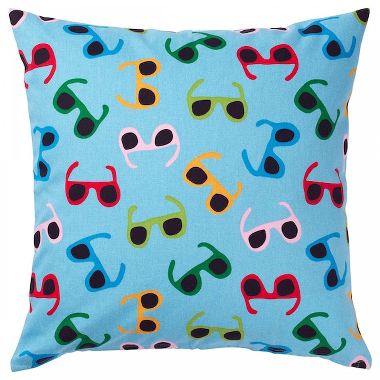 IKEA SOMMAR 2019 Pillow COVER Sham Cushion Cvr MULTICOLOR Sunglasses Shades light blue