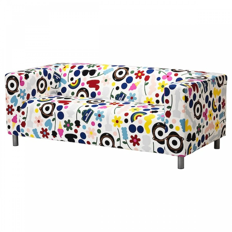 IKEA KLIPPAN FORNYAD Loveseat Sofa SLIPCOVER Cover LIMITED EDITION Darcel Förnyad Retro