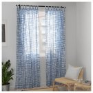 "IKEA Tankvard Drapes CURTAINS  Blue White TAB TOP 2 Panels TÄNKVÄRD Limited Edition 118""L Shibori"