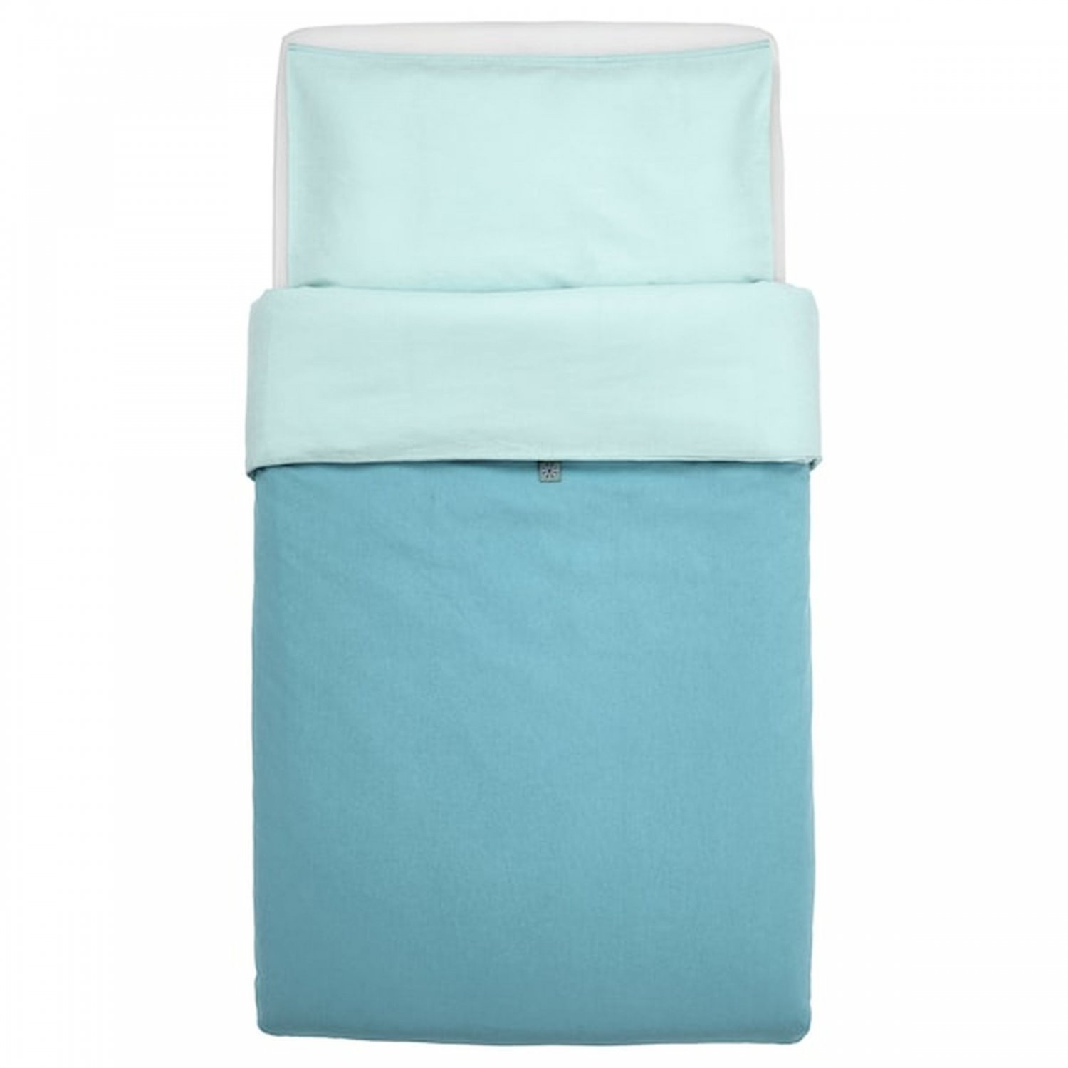 IKEA Tillgiven Turquoise Blue CRIB Duvet COVER Pillowcase SET Nursery Bedding Unisex Tiffany Teal