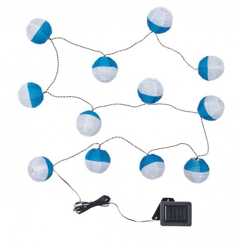 IKEA Solvinden 12 LIGHT CHAIN LED  INDOOR OUTDOOR Blue White Greek Holiday Solar Fairy Lights