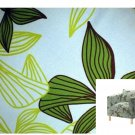 IKEA Karlstad Armchair Chair SLIPCOVER Cover MADER MULTI Green Leaf Botanical Blue Tropical