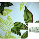 IKEA Karlstad 2 Seat Loveseat Sofa SLIPCOVER Cover MADER MULTI Green Leaf Botanical Blue Tropical