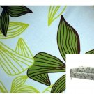 IKEA Karlstad 3 Seat Sofa SLIPCOVER Cover MADER MULTI Green Leaf Botanical Blue Tropical
