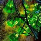 IKEA GLÄNSA DIAMANT Glansa 48 Diamonds STRING LIGHTS Green LED Xmas Fairy