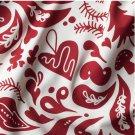 IKEA Vinter 2019 Fabric Material RED White Scandinavian Trees Mushrooms Xmas Tolle Design 1 yd