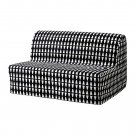 IKEA Lycksele Sofa Bed SLIPCOVER Cover EBBARP Black White MOD Retro Geometric Diamond