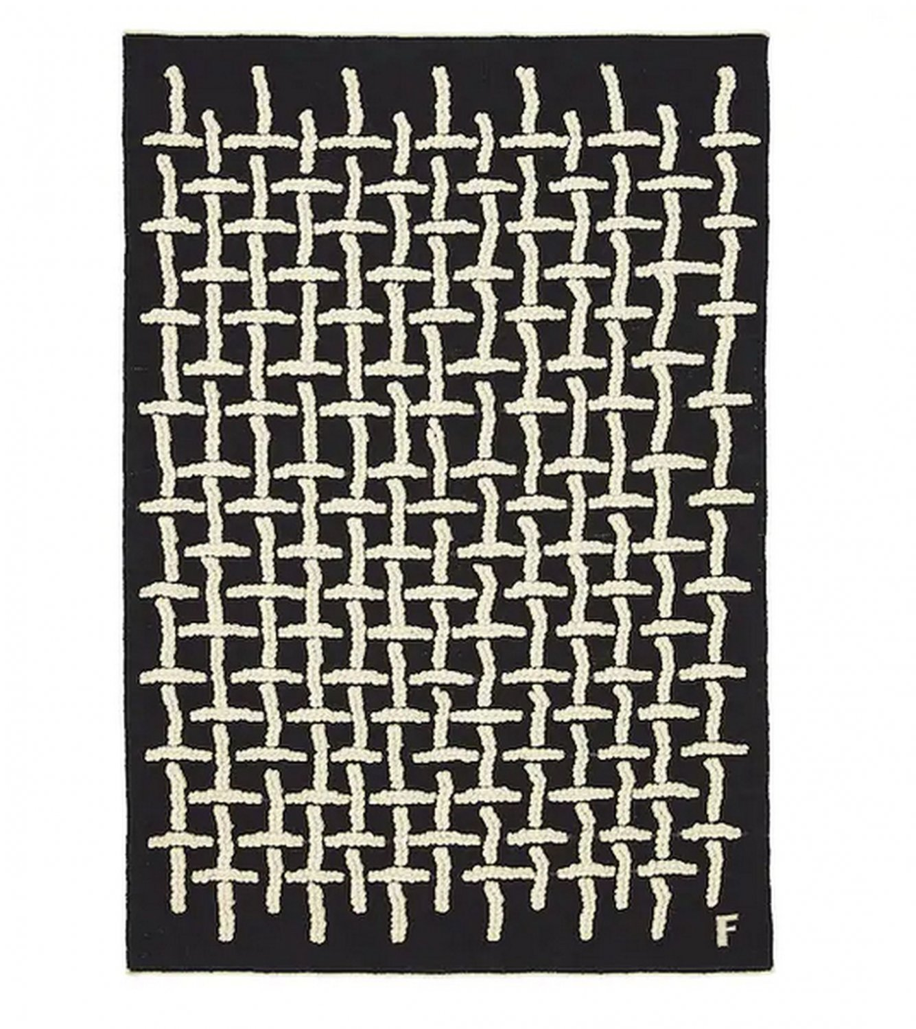 "IKEA Art Event 2019 RUG Filip Pagowski Limited Edition Black Wool Hand-Woven Textile Art 4'4""x6'5"""