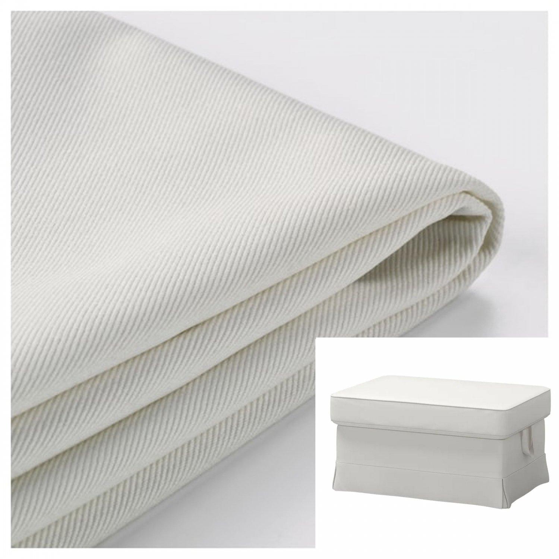 IKEA Ektorp Footstool COVER Ottoman Slipcover VITTARYD WHITE