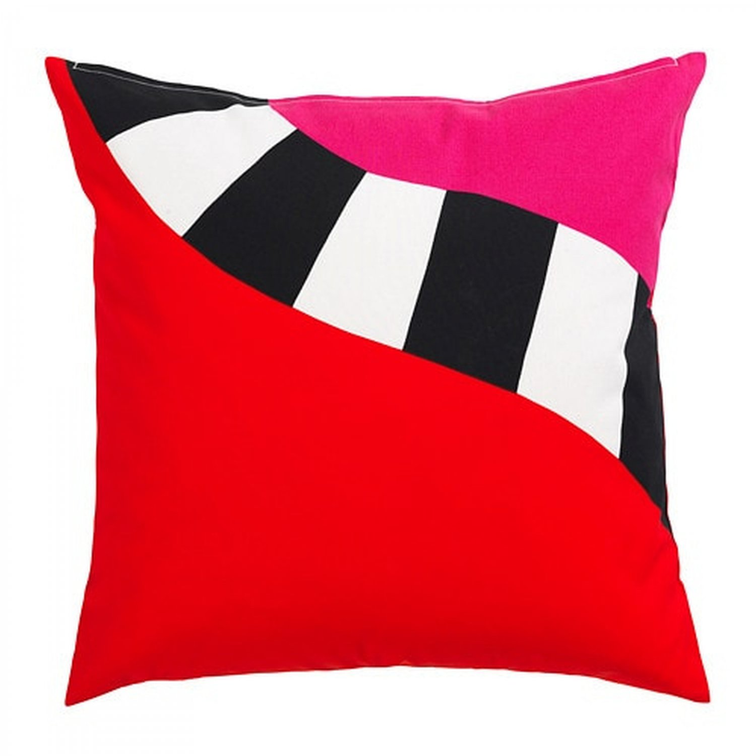 """IKEA Mosaikblad Cushion COVER Pillow Sham  20"""" x 20"""" Retro Pink Black Red Limited Edition"""