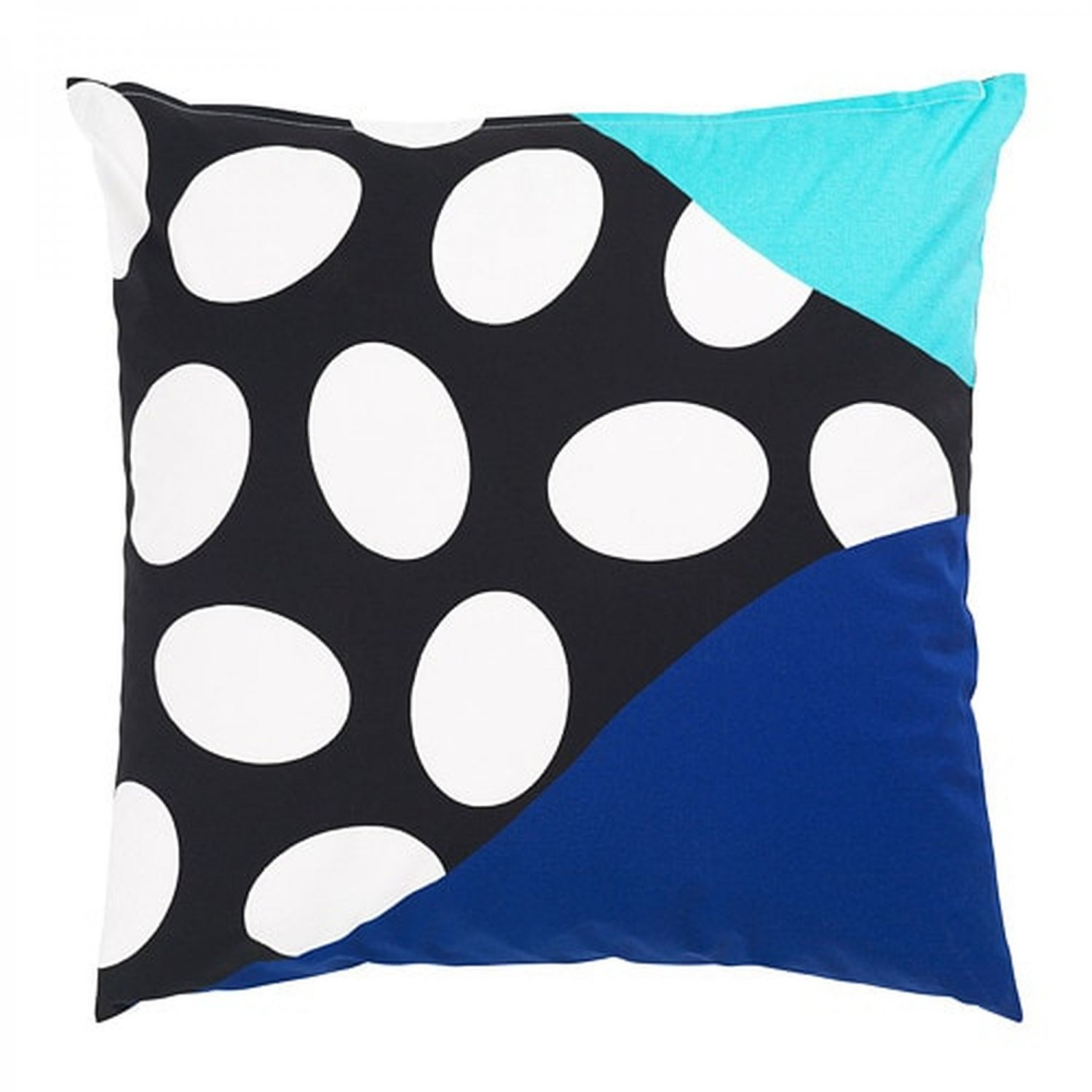 "IKEA Mosaikblad Cushion COVER Pillow Sham  20"" x 20"" Retro Blue Black Turquoise Limited Edition"