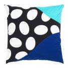 "IKEA Mosaikblad Cushion COVER Pillow Sham  20"" x 20"" Retro Blue Black Turquoise Limited Edition"