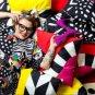 "IKEA Mosaikblad Cushion COVER Pillow Sham  26"" x 16"" Retro Black White Limited Edition"